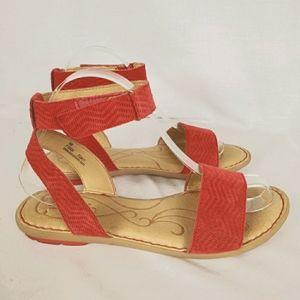 Born sz 8 suede Tegal Pompei distressed sandal